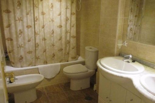 The bathroom with bathtub