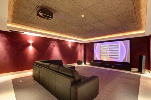 The cinema room