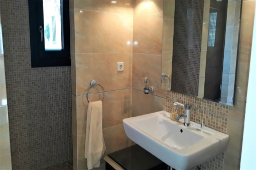 The shower with vanity