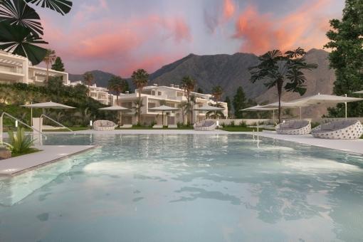 Breathtaking pool area
