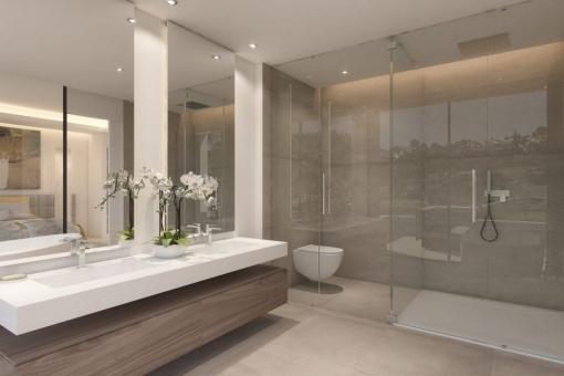 Badezimmer mit natürlichem Licht