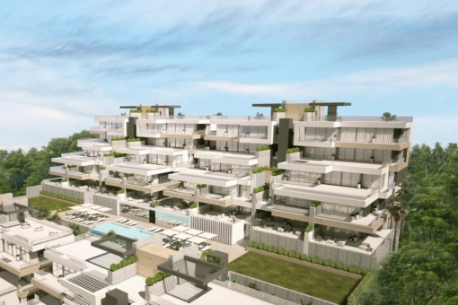 Der Apartmentkomplex