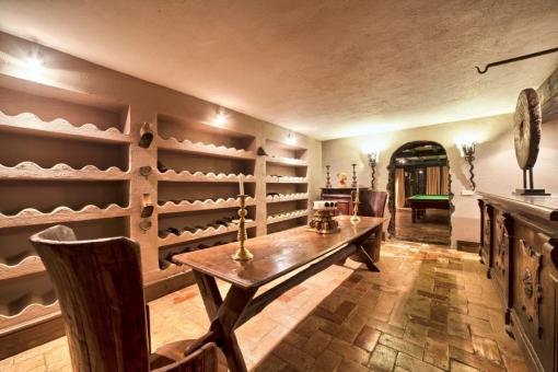 Weinkeller und eine Bar