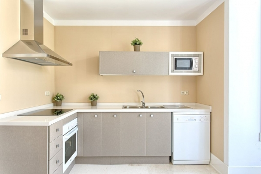 The villa offers a fully equipped kitchen