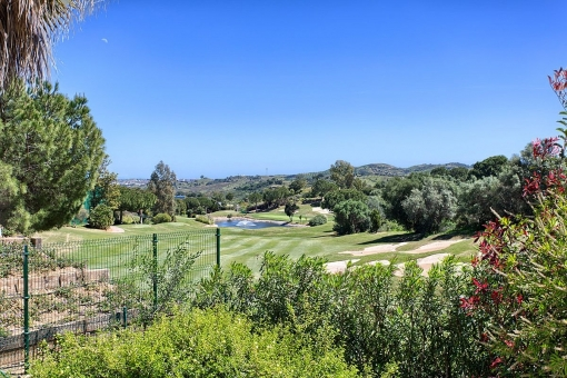 The golf court offers gorgeous views