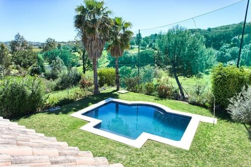 Garten mit fantastischem Panoramablick