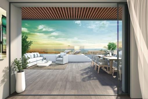 Geräumige Terrasse