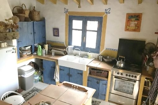 Rustic kitchen of the house