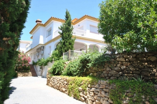 Stunning villa in Mijas Costa with Solarium and wonderful sea views