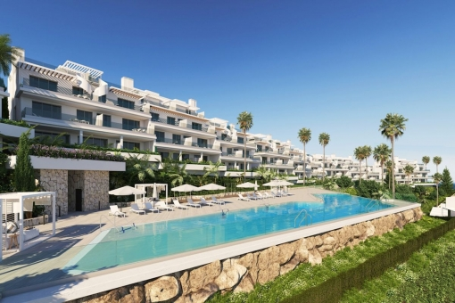 Penthouse apartment with a panoramic sea view located in an off plan complex in Estepona