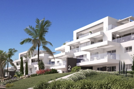 Lovely 3 bedroom ground floor apartment with private garden in a new Off plan Project next to the Atalaya Golf Course, Benahavis