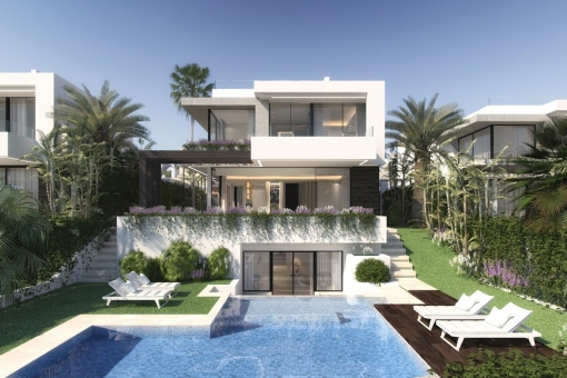 Stunning design, off plan villa with 4 bedrooms and Breeam certification and close to the golf course in Benahavis