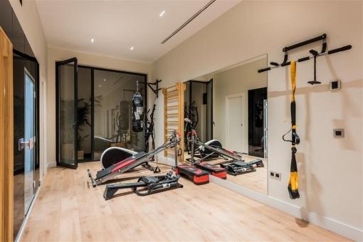 Das Fitnessstudio lässt keine Wünsche offen