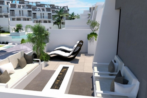 Another terrace invites to sunbathe