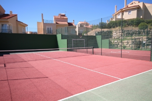 Well-maintained tennis court
