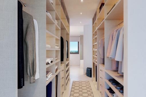 Ansicht des Kleiderschrankes