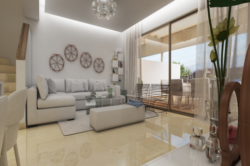 Puristic living area