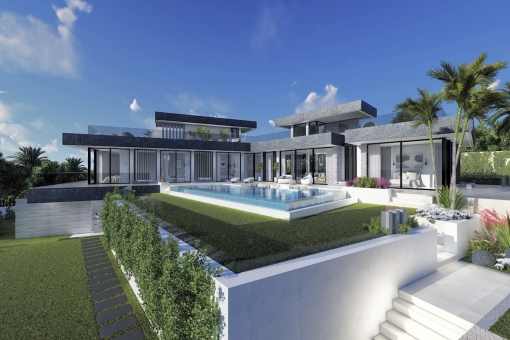 Impressive off plan villa with 5 bedrooms villa at the coast of Benahavis
