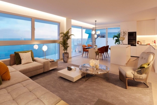Perfect dining and living area