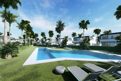 Semi detached off plan villa with 4 bedrooms in a contemporary style at the New Golden Mile, Estepona