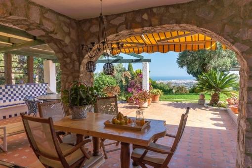 Villa 1 - Terrace with beautiful sea views