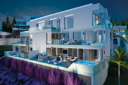 Impressive open-plan 2 bedroom Ground floor with amazing views and impressive modern design in Mijas