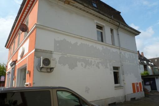Seitenansicht der Fassade