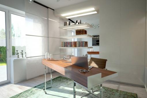Die Wohnung verfügt über ein Büro
