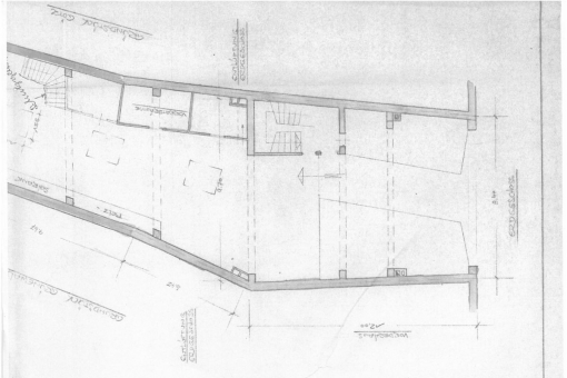 Ground plan of the shop
