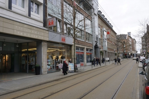 View of the street in which the shop is located