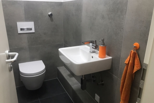 WC des Büros im Erdgeschoss