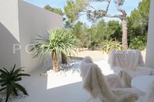 garden-luxury property-fantastic sea views-sunset views-cala tarida