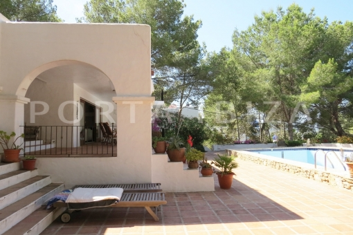 pool terrace-wonderful house at Can Germa-great sea view