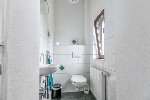 Small bathroom with daylight