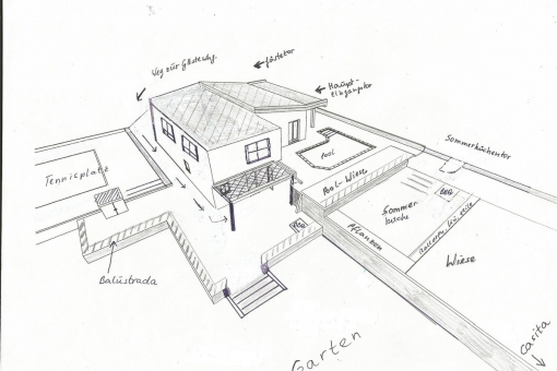 Construction drawing of the property