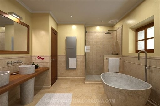 Modernes, luxuriöses Badezimmer