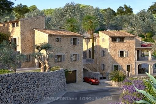 Beeindruckende Ansicht der Villa aus Natursteinen