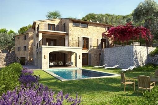 Swimmingpool im idyllischen Garten