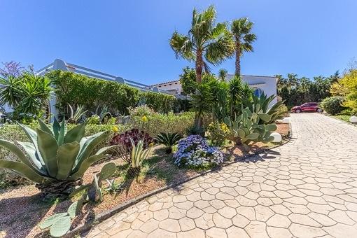 Mediterran driveway to the property