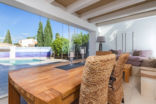 Dining area with terrace views