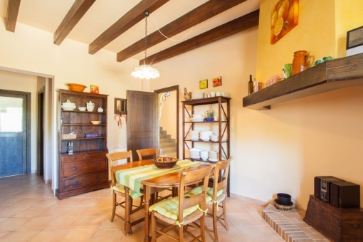Dining area of the finca