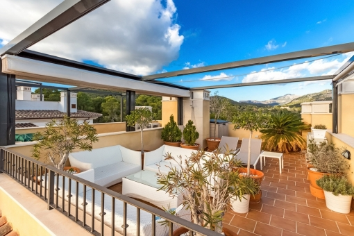 Dachterrasse mit Lounge
