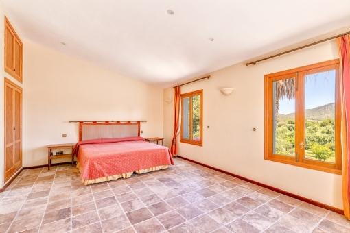 Einmaliger Landschaftsblick vom Schlafzimmer aus