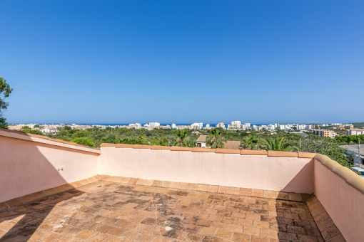 Great sea views from the roof terrace