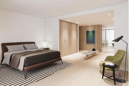 Großzügiges Schlafzimmer mit Ankleide- und Badezimmer en Suite