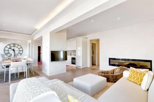 Moderne und offene Wohnfläche