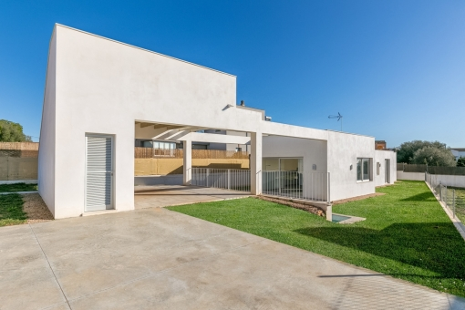 The modern bungalow stands on a plot of 640 sqm