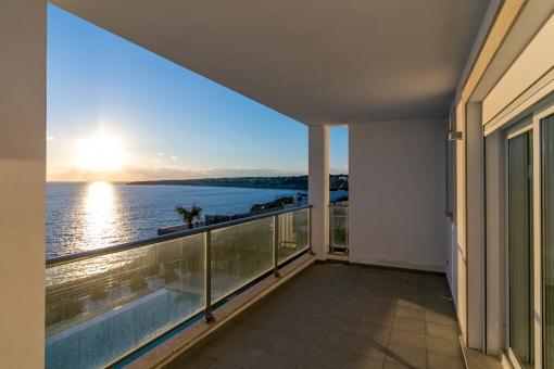 The terrace invites to enjoy wonderful sunsets