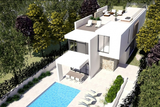 Modern villa with majorcan details near the harbour of Port Adriano - purchase