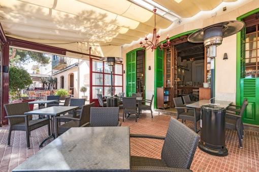 Alternative Ansicht der Restaurant-Terrasse